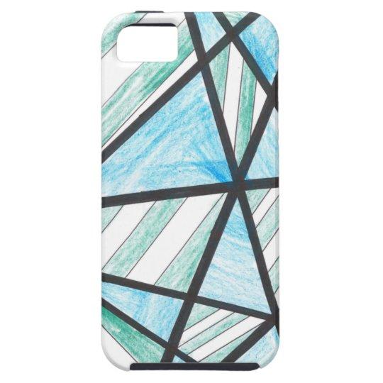La diagonal del verde azul raya la caja del iPhone Funda Para iPhone SE/5/5s