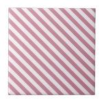 La diagonal raya 2 - cordón rosado y Puce Teja Ceramica