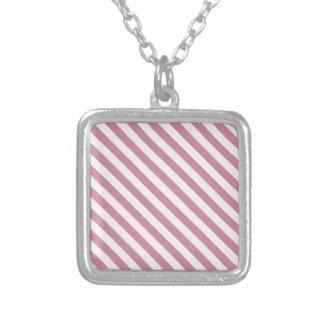 La diagonal raya 2 - cordón rosado y Puce Joyerias