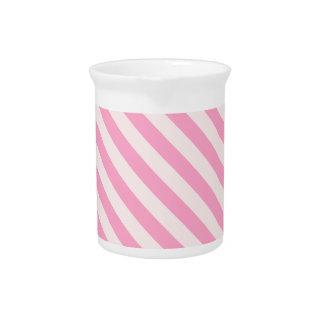 La diagonal raya 2 - palidezca - rosa y rosa del c jarrón