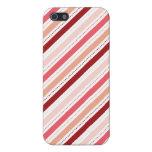 La diagonal roja y rosada raya el regalo del el dí iPhone 5 carcasa