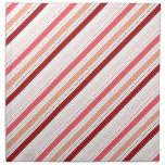 La diagonal roja y rosada raya el regalo del el dí servilletas