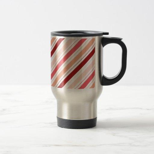 La diagonal roja y rosada raya el regalo del el dí tazas