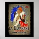 La Diaphane de Sarah Berhardt Poster