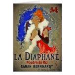 La Diaphane de Sarah Berhardt Tarjeta De Felicitación