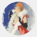 La Diaphane, Jules Chéret Round Stickers
