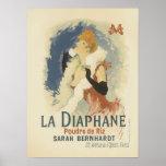 La Diaphane Poudre de Riz Sarah Bernhardt Poster