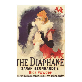 La Diaphane Woman Powdering Face Promo Poster Canvas Print