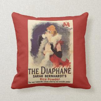 La Diaphane Woman Powdering Face Promo Poster Throw Pillow