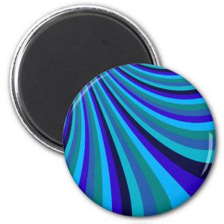 La diapositiva fresca del arco iris del gris azul imán de frigorifico