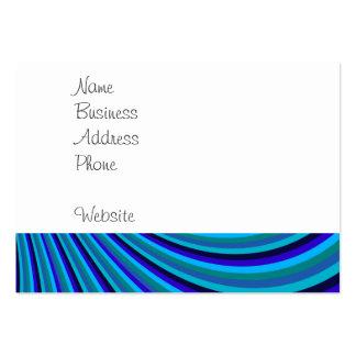 La diapositiva fresca del arco iris del gris azul tarjetas de visita grandes