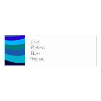 La diapositiva fresca del arco iris del gris azul tarjetas de visita mini