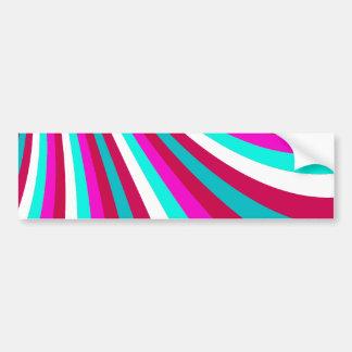 La diapositiva maravillosa del arco iris del trull pegatina para auto