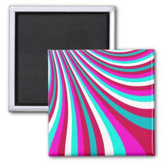 La diapositiva maravillosa del arco iris del trull imán para frigorifico