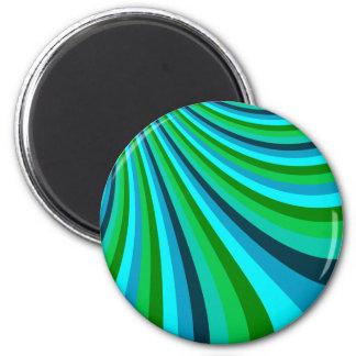 La diapositiva maravillosa del arco iris del verde iman de nevera