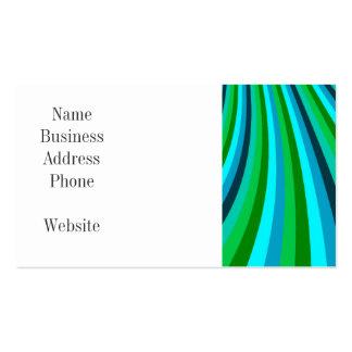 La diapositiva maravillosa del arco iris del verde tarjetas de visita
