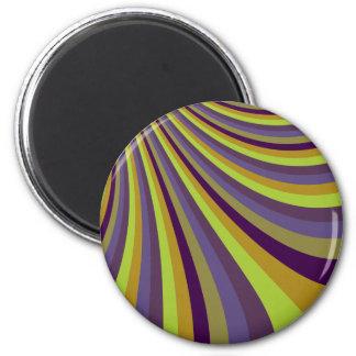 La diapositiva púrpura y verde maravillosa del arc iman para frigorífico