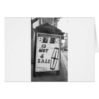 La dicha no está para el arte alterado venta del p tarjeta de felicitación