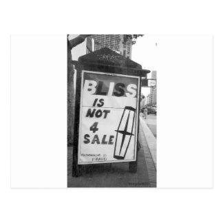 La dicha no está para el arte alterado venta del postal