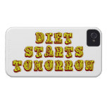La dieta comienza mañana Case-Mate iPhone 4 carcasa