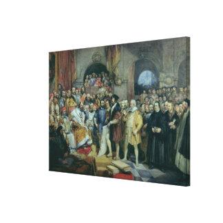 La dieta de chapiteles, el 19 de abril de 1529 impresiones en lona estiradas