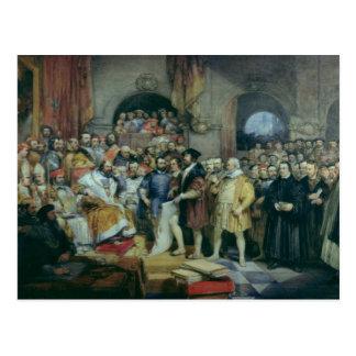 La dieta de chapiteles, el 19 de abril de 1529 postales