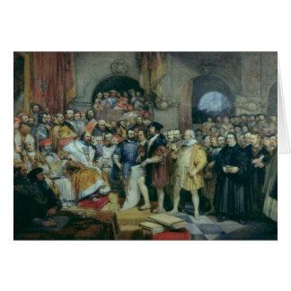 La dieta de chapiteles, el 19 de abril de 1529 tarjeta de felicitación
