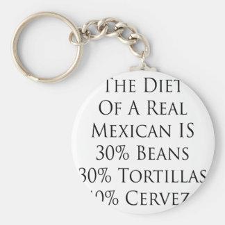 La dieta de un mexicano real es 30 tortilla de las llavero