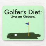 La dieta del golfista:  Viva en verdes Tapete De Raton