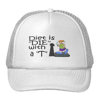 La dieta es muere con un T Gorras De Camionero