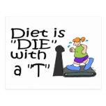 La dieta es muere con un T Postal
