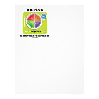 La dieta es una cuestión de proporción (MyPlate) Plantillas De Membrete