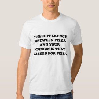 La diferencia entre la pizza y su opinión playera