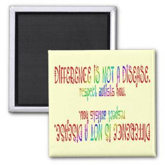 La diferencia no es imanes de una enfermedad imán cuadrado