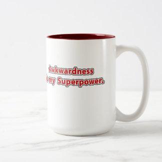 La dificultad es mi superpotencia taza de café