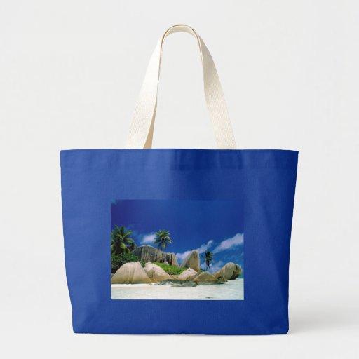 La Digue Islands Canvas Bags
