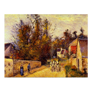 La Diligence, Route d'Ennery by Camille Pissarro Postcard