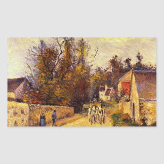 La Diligence, Route d'Ennery by Camille Pissarro Stickers