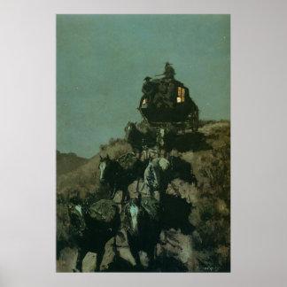 La diligencia vieja de Remington de los llanos (19 Posters