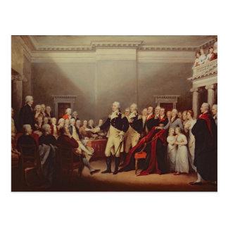 La dimisión de George Washington Postales