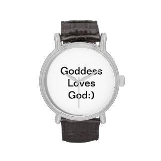 La diosa ama a dios:) reloj