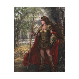 La diosa Athena estiró la impresión de la lona Lona Envuelta Para Galerías