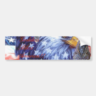 ¡La diosa bendice América!! Pegatina De Parachoque
