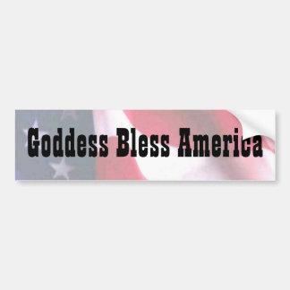 La diosa bendice América Pegatina De Parachoque