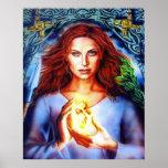 La diosa Brigit por el iris de Lisa Posters