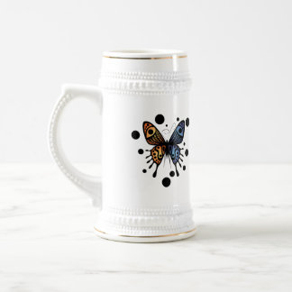 La diosa de la mariposa jarra de cerveza