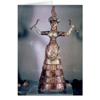 La diosa de las serpientes tarjeta de felicitación