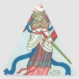 La diosa del agua pegatina triangular