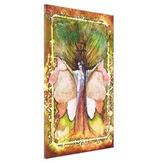 La diosa del árbol de Element~ de la tierra Lona Estirada Galerias