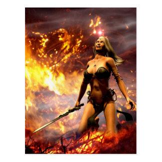 la diosa del fuego tarjetas postales